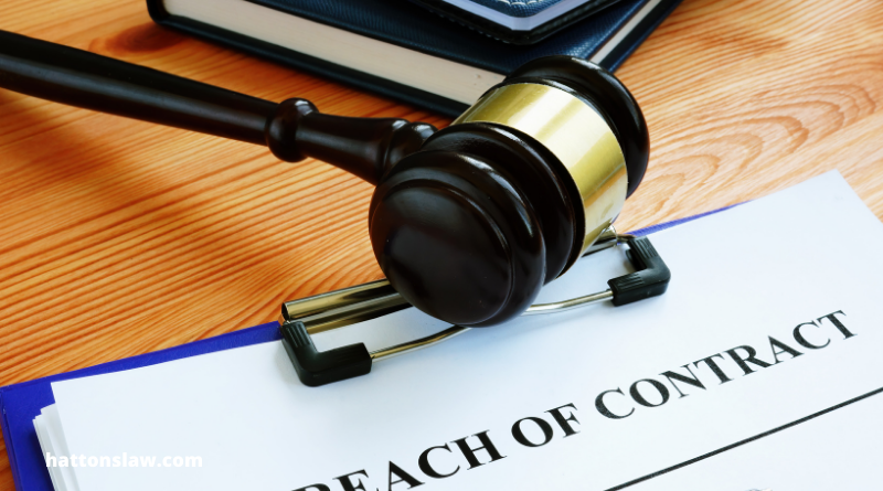 What happens in a breach of contract?